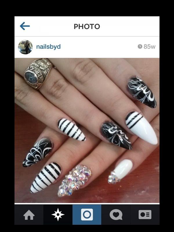 Marble nail art by phuckurnailz