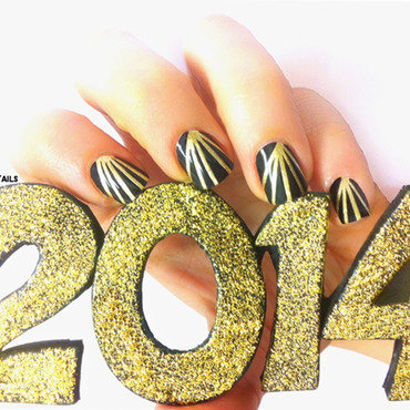 Happy New Year Nails nail art by Goldi