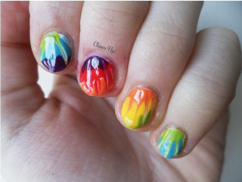 Tie-Dye nail art by Jacquie