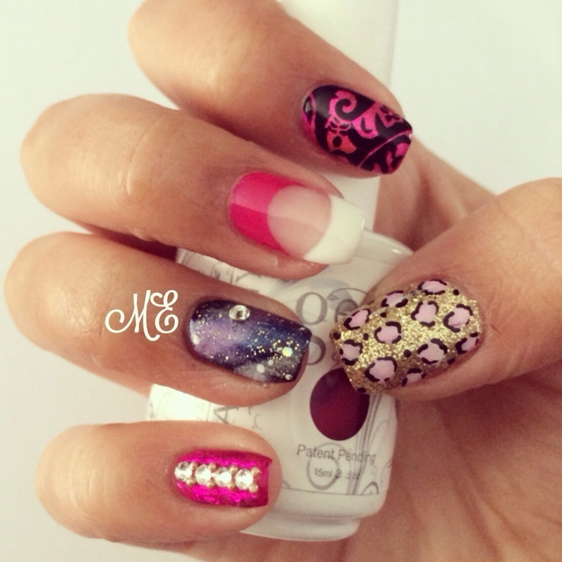 Fun and Fab Mix and Match nail art by Miriam