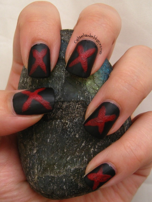 SHine a Light On Slavery mani nail art by Vedrana Brankovic