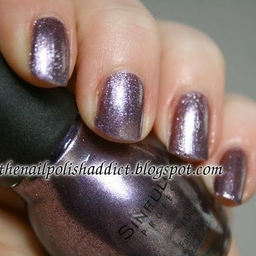 SinfulColors Triple Platinum Swatch by Leah