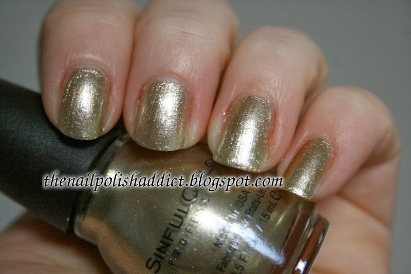 SinfulColors Gold Medal Swatch by Leah