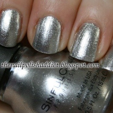 SinfulColors Simply Silver Swatch by Leah
