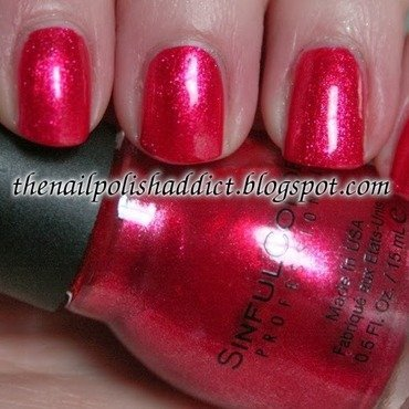 SinfulColors Red Eye Swatch by Leah