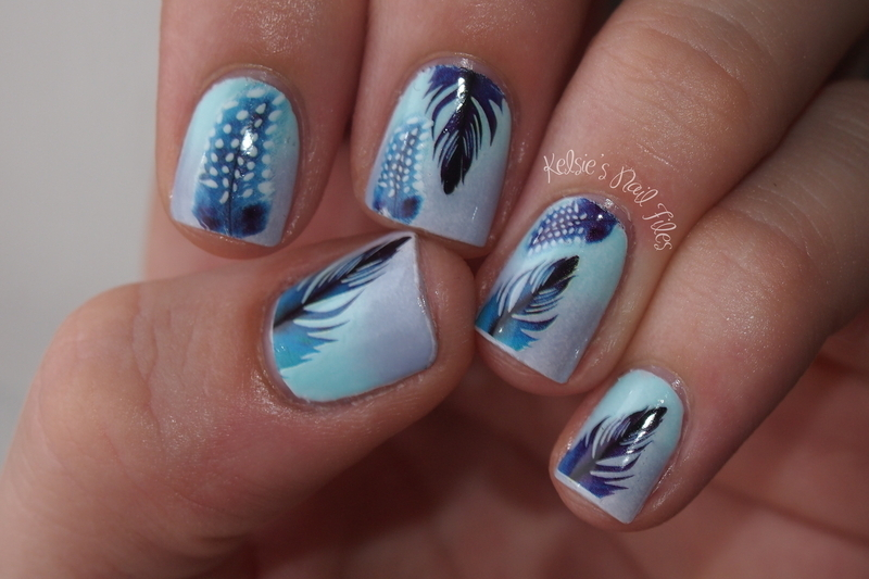 Light as a Feather nail art by Kelsie