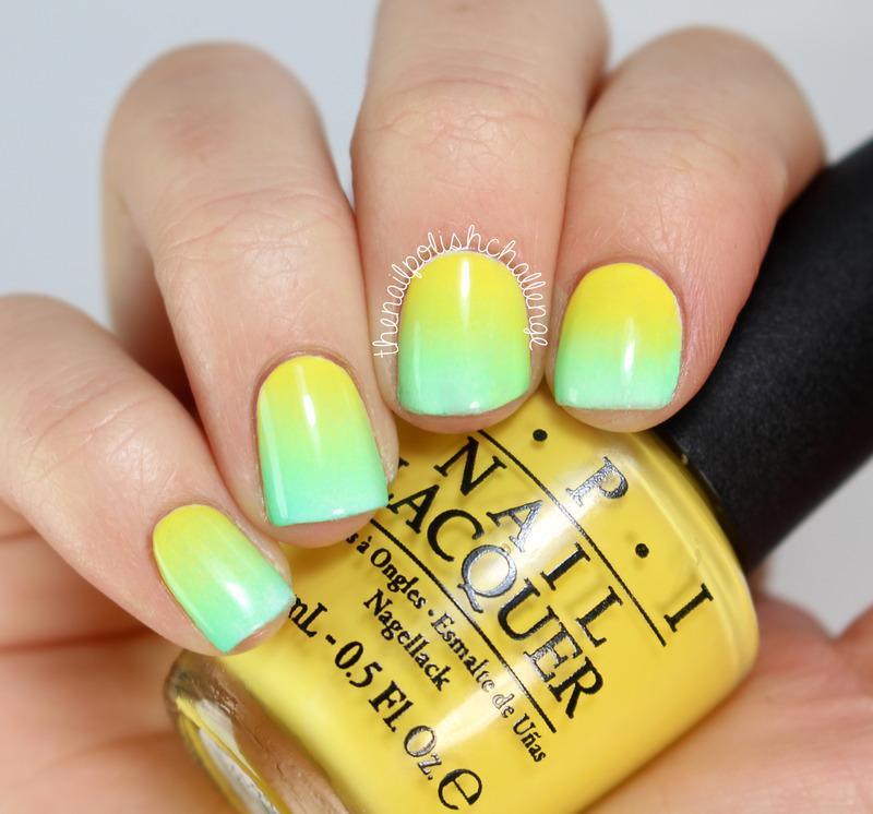 Summer Gradient nail art by Kelli Dobrin
