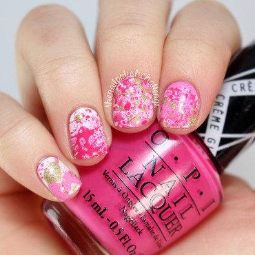 Paint Splatter Nail Art nail art by Kelli Dobrin