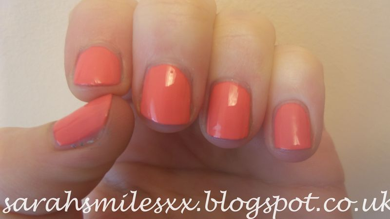 Models Own Coral Glaze Swatch by Sarah Clarke