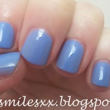 Models Own Cornflower Gleam Swatch by Sarah Clarke