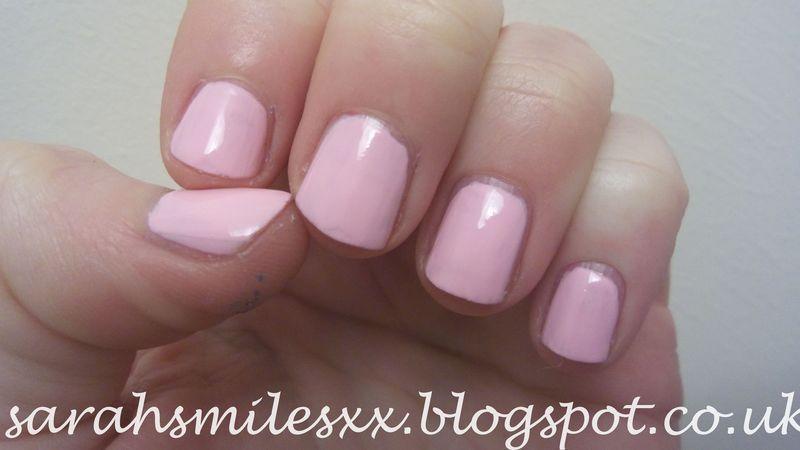 Models Own Pink Veneer Swatch by Sarah Clarke