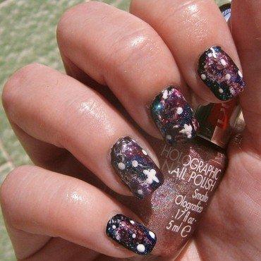 galaxy nail nail art by sissynailsmakeup