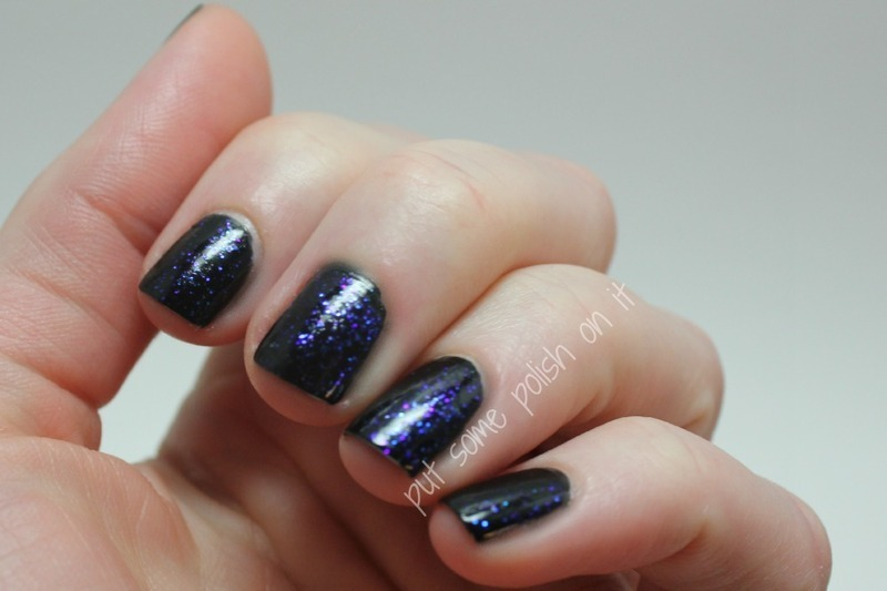 starry night sky nail art by Crystal