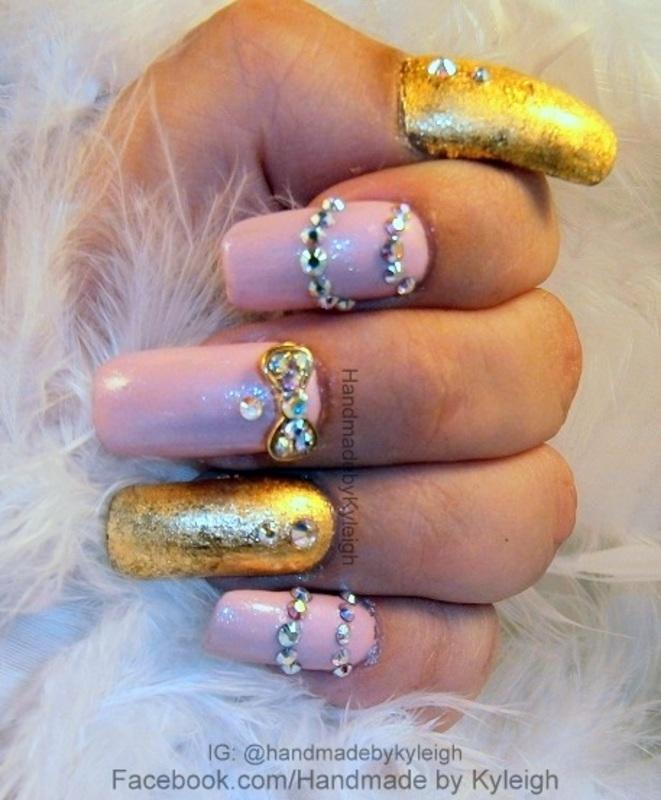 Princess nail art by  Kyleigh  'Handmade By Kyleigh'