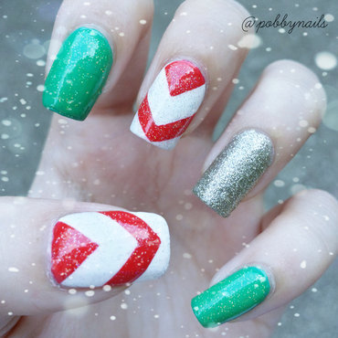 Last Christmas again. nail art by Priscilla  Lim