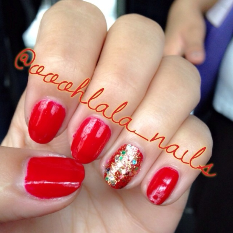 Holliday! nail art by Sarrah Venzon