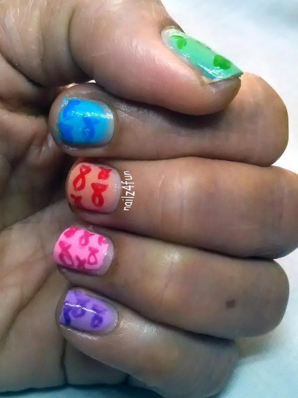 Fish-y Sauce nail art by Nailz4fun
