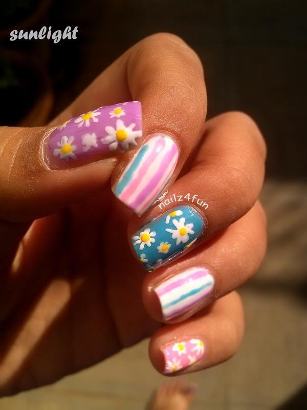 Spring Nails nail art by Nailz4fun