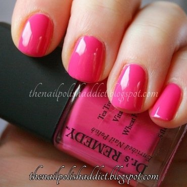 Dr.'s Remedy Hopeful Hot Pink Swatch by Leah
