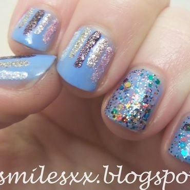 Sparkly Waterfall Mani nail art by Sarah Clarke