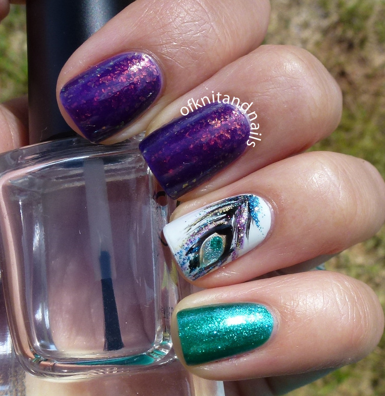 Feeling Peacock-y nail art by Julie