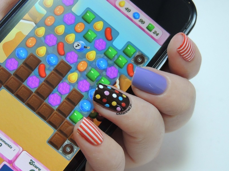 Candy Crush nail art by Marine Loves Polish