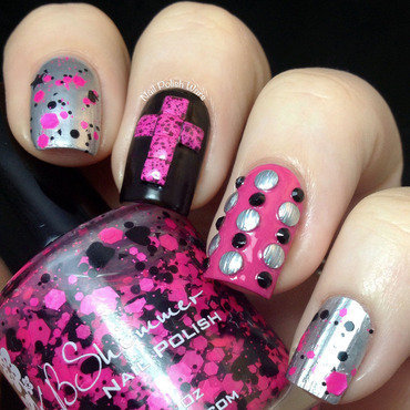 Just a Little Punky nail art by Nail Polish Wars