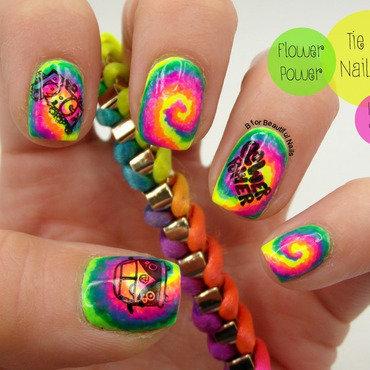 Tie Dye Nail Art nail art by B.