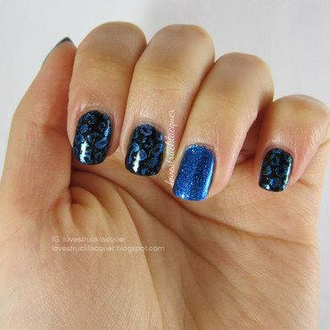 Aforever21 blue leopard print mani thumb370f