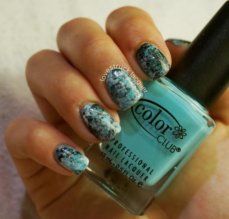 Saran wrap mani nail art by Stephanie L