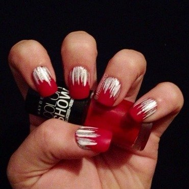 Waterfall nail art by Nails by KC