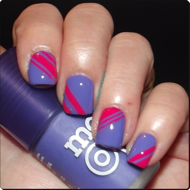 Striping tape nails (shine) nail art by Mycrazydesigns