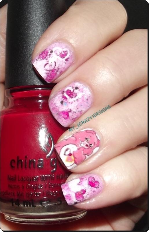Valentine's Day nails nail art by Mycrazydesigns