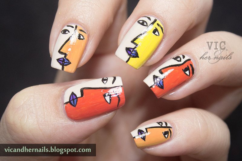 Cubism Nail Art nail art by Victoria Oen