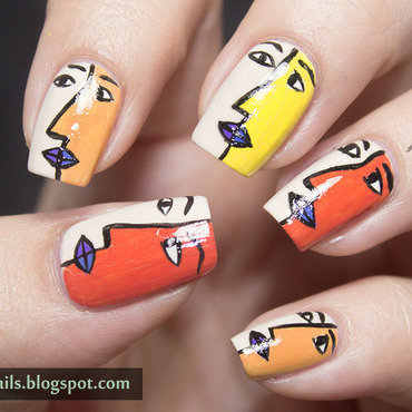 1 nail art a go go abstract cubism face nail art thumb370f