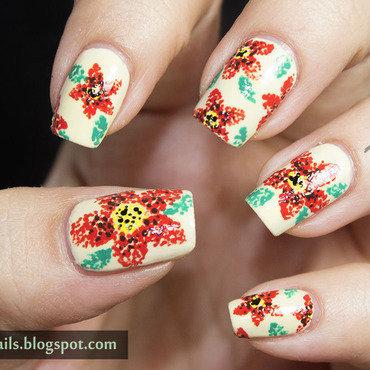 1 nail art a go go floral pointilism nail art thumb370f