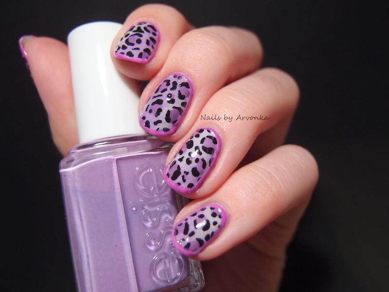 Purple Leopard nail art by Veronika Sovcikova