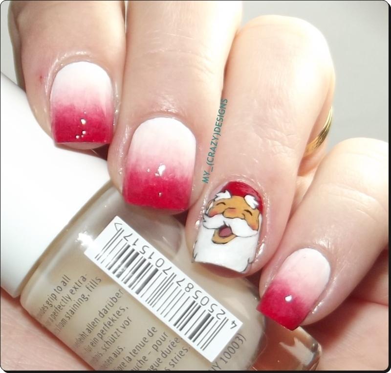 David the Gnome nails nail art by Mycrazydesigns