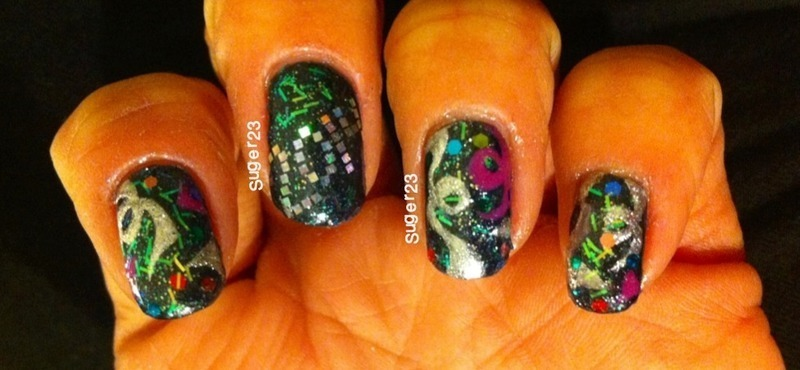 New Years Collaboration nail art by Genevieve  Clay-Poor
