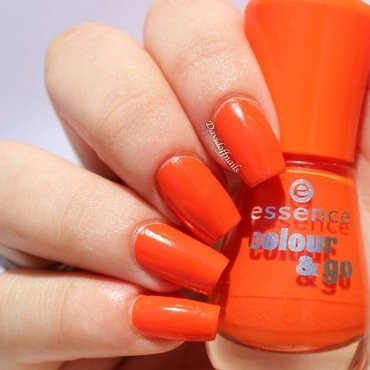Essence Colour & Go Flashy Pumpkin Swatch by Kiara Davidoff