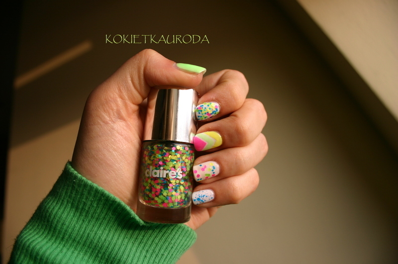 Freckles on your cheeks nail art by Koralina