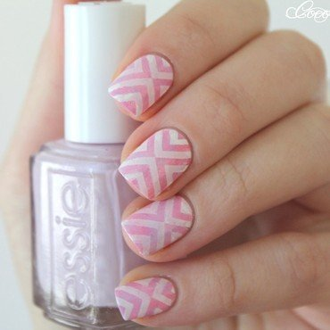 Stamping nail art nail art by Cocosnailss