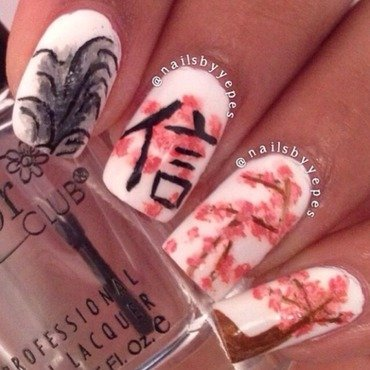 Chinese Garden  nail art by Angelica