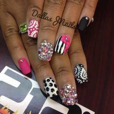 It's a girl thing! nail art by Dallas