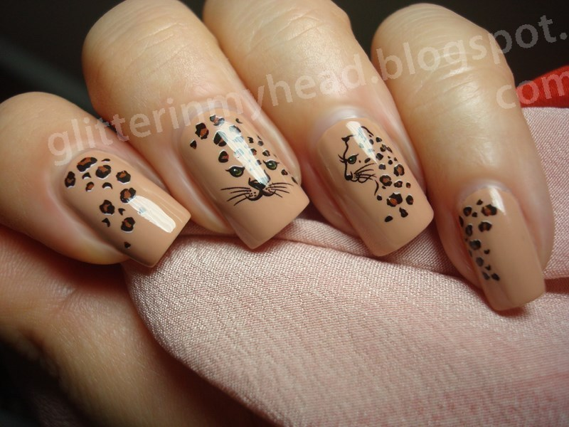 Nude Leopard nail art by The Wonderful Pinkness - Nude Leopard Nail Art By The Wonderful Pinkness - Nailpolis