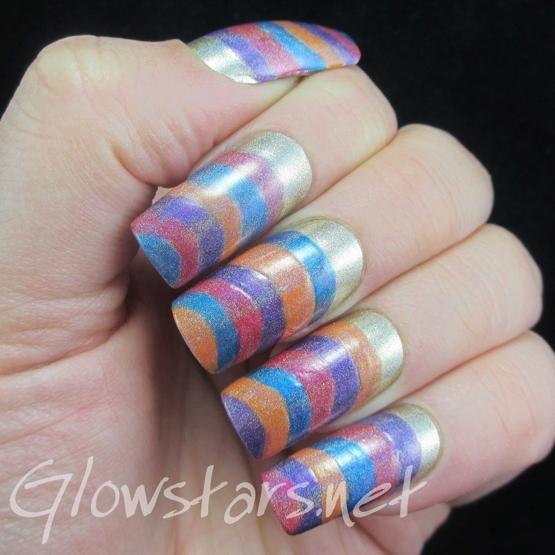 Wash off all that grief and those dirty days nail art by Vic 'Glowstars' Pires