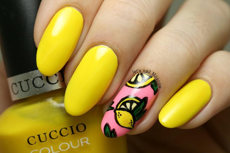 summer lemon nail art :) nail art by Let's Nail Moscow