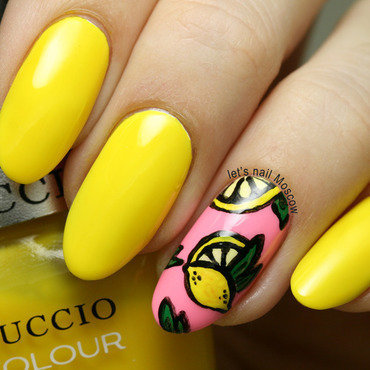 summer lemon nail art :) nail art by Let's Nail Moscow