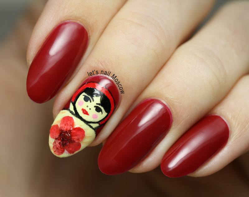 russian doll Matrioshka nails :) nail art by Let's Nail Moscow