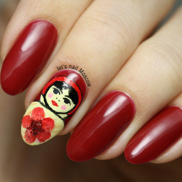 31dnc red nails russian doll matrioshka                nails nailart beautiful nails         blogger nailblogger beautyblogger 1 1 thumb370f